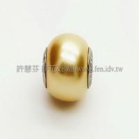 施華洛Becharmed 迷人串珠14mm-金黃色-1個