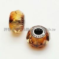 5948施華洛Becharmed 小切14mm-水晶銅色-1個
