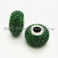 施華洛Becharmed-圓14mm-綠色-1個