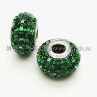 施華洛Becharmed 大方14mm-綠色-1個