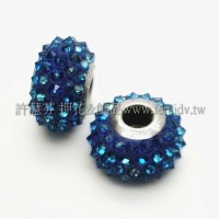 施華洛Becharmed刺蝟14mm-深藍-1個