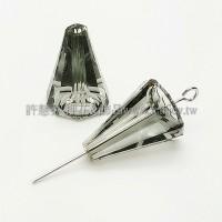 5540施華洛圓錐形17mm灰色-2個