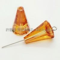 5540施華洛圓錐形17mm橙色-2個