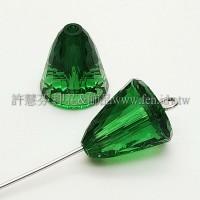 5541施華洛多切圓錐11mm青苔綠色-1個