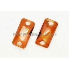 3251施華洛雙孔空間重組合18x9mm橙色
