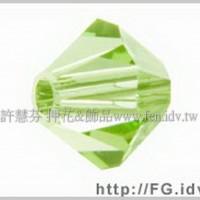 5301施華洛角珠214-4mm翠綠橄欖-50個