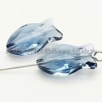 5727施華洛直洞魚18mm影子藍-1個