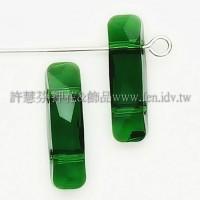 5535施華洛雙孔柱狀18x6mm橄欖綠-1個