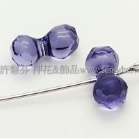 5150施華洛骨頭珠11x6mm紫色-2個