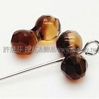 5150施華洛骨頭珠11x6mm茶銅色-2個