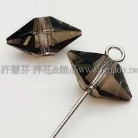 5747施華洛雙錐形12x6mm水晶銅-4個