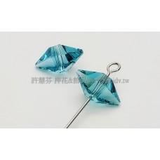 5747施華洛雙錐形12x6mm水藍-4個