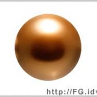 3mm施華洛5810水晶珍珠159古銅金-100個