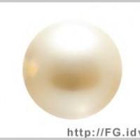6mm施華洛5810水晶珍珠621玫瑰黃-10個