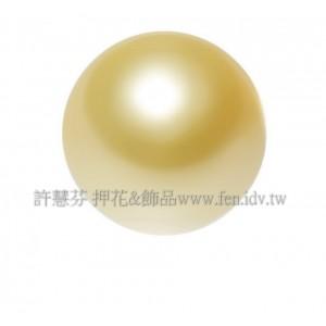 10mm施華洛5810水晶珍珠306_金橙黃色/1包/10個