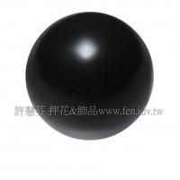 12mm施華洛5810水晶珍珠335黑色-2個