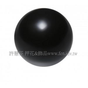 10mm施華洛5810水晶珍珠335_黑色/1包/10個