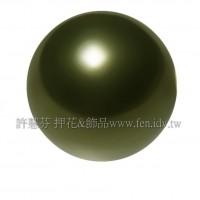 6mm施華洛5810水晶珍珠814深綠珍珠-10個
