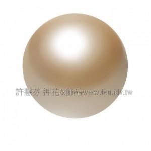 10mm施華洛5810水晶珍珠305_金可可色/1包/10個