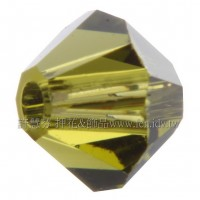 施華洛5301角珠228-5mm黃綠橄欖石-30個