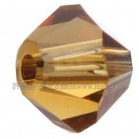 5301施華洛角珠001COP-3mm茶水晶色-50個