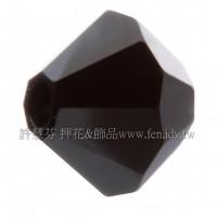 5301施華洛角珠280HEM-6mm炫彩黑色-20個