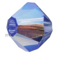 5301施華洛角珠206AB2-4mm亮彩藍寶石-50個