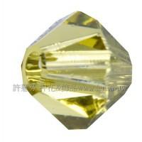 5301施華洛角珠252-4mm淺黃綠橄欖-50個