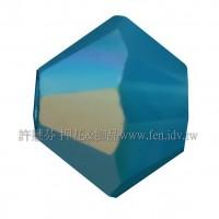 5301施華洛角珠394AB-4mm亮彩加勒比海藍蛋白-50個
