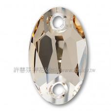 施華洛3231橢圓形立體雙孔001GSHA水晶23*14mm夢幻影子1個