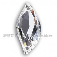 施華洛3254大S彎曲雙孔001水晶20*9mm炫亮水晶1個