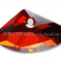 施華洛6657銀河岩形001REDM23.5*39mm紅色夢幻1個