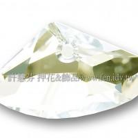 施華洛6657銀河岩形001SSHA23.5*39mm茶水晶1個