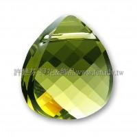 施華洛6012三角水滴228_15.4*14mm黃綠橄欖石1個