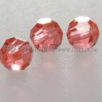 5000施華洛圓珠542-4mm珊瑚紅-20個