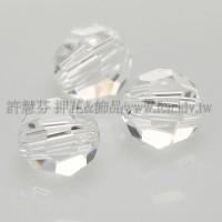 5000施華洛圓珠001-4mm晶亮透明-20個
