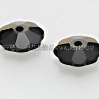 施華洛3700花形280HEM-6mm炫彩黑色-10個