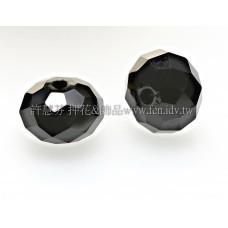 5040施華洛車輪珠280-8mm黑玉色-10個