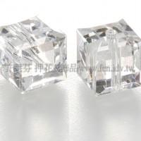 5601施華洛方形珠001-6mm晶亮透明-6個