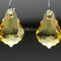 6090施華洛水滴葉形226-11*16mm月光黃色-2個