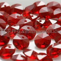 6200施華洛雙面圓錐形6mm紅色-10個