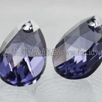 6106施華洛水滴形-藕荷紫色16mm-1個
