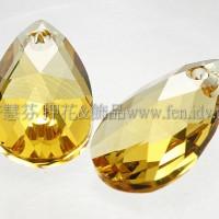6106施華洛水滴形-金黃水晶色16mm1包-1個