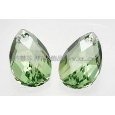 6106施華洛水滴形-橄欖綠16mm1包-1個