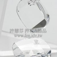 施華洛6058角面方形18mm晶瑩透明-1個