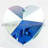 施華洛6202心形海藍色14.4*14-6個