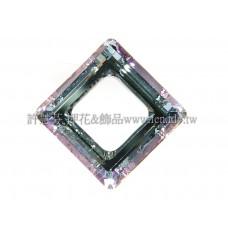 施華洛4439方形紫粉色14mm-1個