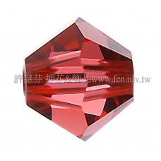 5301施華洛角珠542-4mm水蓮紅-50個