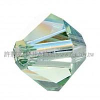 5301施華洛角珠214AB-4mm亮彩翠綠橄欖-50個