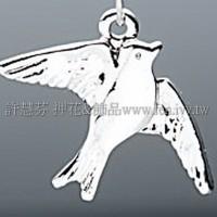 985 天使和平鴿造形墜飾-20*15mm1包-4個